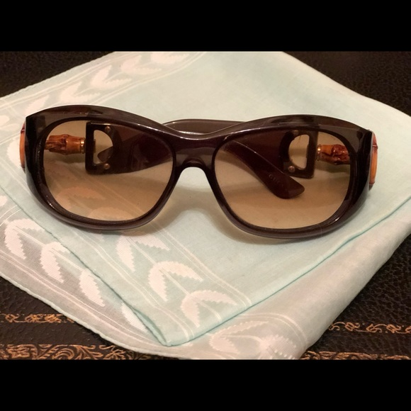 f62abfcae Gucci Accessories | 2979s Horsebit Sunglasses With Bamboo Detail ...
